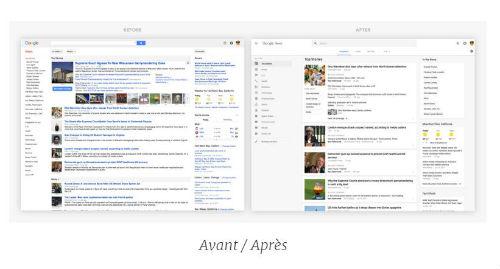 interface google news avant après